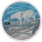 Anybody Home? Round Beach Towel