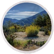 Round Beach Towel featuring the photograph Anza-borrego Desert State Park Desert Flowers by Randall Nyhof