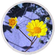 Anza Flower Round Beach Towel