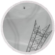 Apache Attack Round Beach Towel