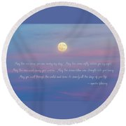 Apache Blessing Harvest Moon 2016 Round Beach Towel