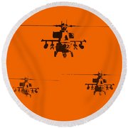 Apache Dawn Round Beach Towel by Pixel  Chimp