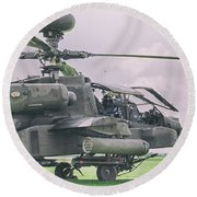 Apache Gunship Round Beach Towel