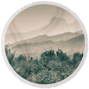 Apache Trail Round Beach Towel