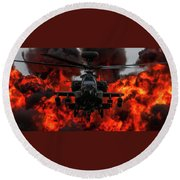 Apache Wall Of Fire Round Beach Towel