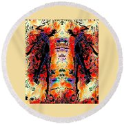 Apart Round Beach Towel