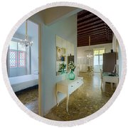 Round Beach Towel featuring the photograph Apartment In The Heart Of Cadiz 17th Century Spain by Pablo Avanzini