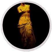 Aphrodite Of Milos Round Beach Towel