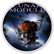 Apollo 9 Lm Round Beach Towel