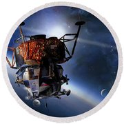 Apollo 9 Lunar Module Round Beach Towel