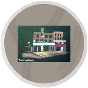 Apollo Theater New York City Round Beach Towel