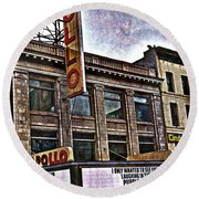 Round Beach Towel featuring the photograph Apollo Theatre, Harlem by Joan Reese