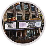 Apollo Theatre, Harlem Round Beach Towel