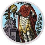 Apollonius, Ancient Greek Philosopher Round Beach Towel