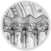 Apostles On Immaculate Conception Round Beach Towel by Al Bourassa