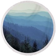 Appalachian Blue Round Beach Towel