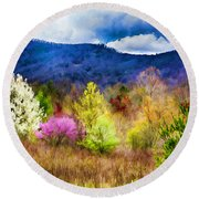 Appalachian Spring In The Holler Round Beach Towel