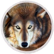 Apparition Round Beach Towel
