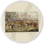Apperley, Charles James The Life Of A Sportsman. By Nimrod. Round Beach Towel
