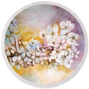 Apple Blooms Round Beach Towel