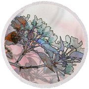 Round Beach Towel featuring the digital art Apple Blossoms by Stuart Turnbull