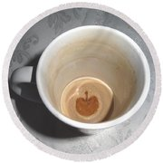 Apple In A Mug Round Beach Towel