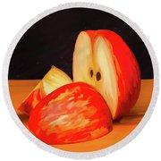 Apple Study 01 Round Beach Towel by Wally Hampton
