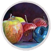 Apples And Plums  Round Beach Towel