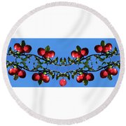 Round Beach Towel featuring the photograph Apples Bramble by Adria Trail