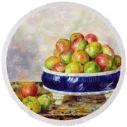 Apples In A Dish Round Beach Towel