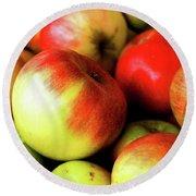 Apples Round Beach Towel