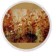 Approaching Autumn Round Beach Towel