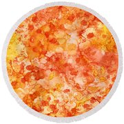 Apricot Delight  Round Beach Towel by Patricia Lintner