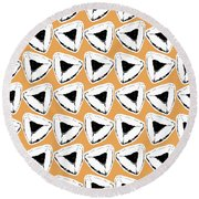 Round Beach Towel featuring the mixed media Apricot Hamentashen- Art By Linda Woods by Linda Woods