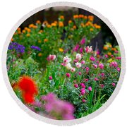 April Flowers Round Beach Towel