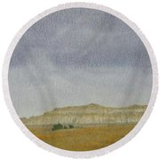 April In The Badlands Round Beach Towel