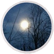 April Moonlight Round Beach Towel