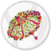 April Showers Bring May Flowers Round Beach Towel