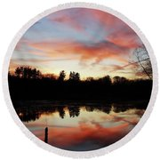 April Sky 23 Round Beach Towel