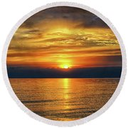 April Sunset Round Beach Towel