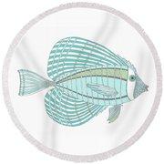 Aqua Fish Round Beach Towel by Stephanie Troxell