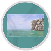 Aqua Sea Round Beach Towel