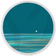 Round Beach Towel featuring the digital art Aqua Sea by Val Arie