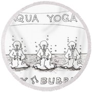 Aqua Yoga Round Beach Towel