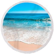 Aquamarine Island Beach Round Beach Towel