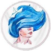 Aquarius Round Beach Towel