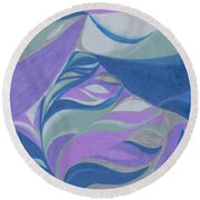 Round Beach Towel featuring the drawing Aqueous by Kim Sy Ok