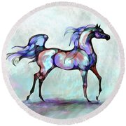 Arabian Horse Overlook Round Beach Towel