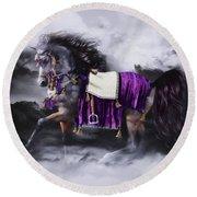 Arabian Horse  Shaitan Round Beach Towel