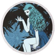 Arachne Round Beach Towel